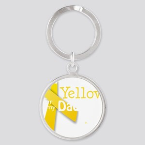 trans_i_wear_yellow_for_my_dad_upda Round Keychain