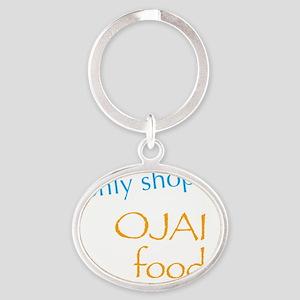 Ojai Foods Oval Keychain