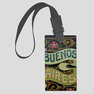 Buenos Aires fileteado Large Luggage Tag