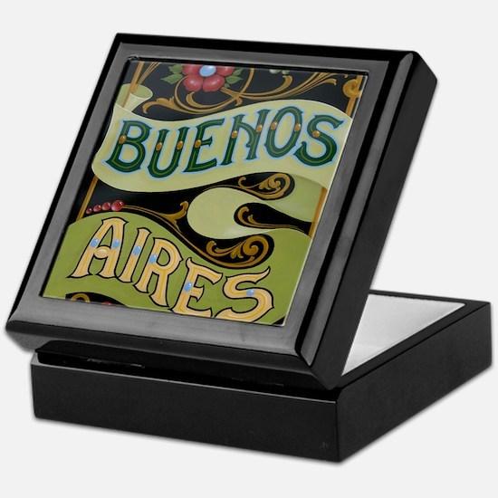 Buenos Aires fileteado Keepsake Box