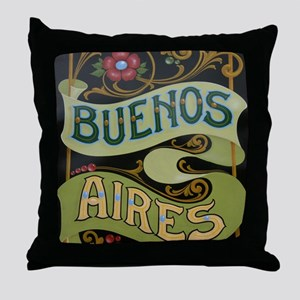Buenos Aires fileteado Throw Pillow