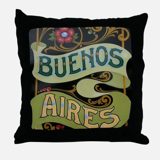 Buenos Aires fileteado Throw Pillow