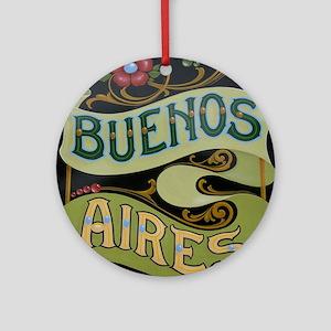 Buenos Aires fileteado Round Ornament