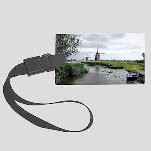 Dutch windmills Large Luggage Tag