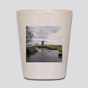 Dutch windmills Shot Glass