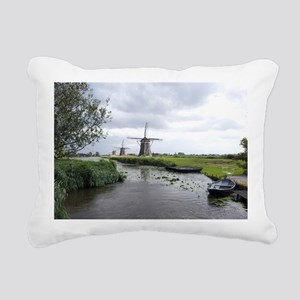 Dutch windmills Rectangular Canvas Pillow