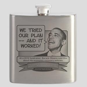 Obama Sez His Economic Plan Worked Flask