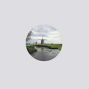Dutch windmills Mini Button