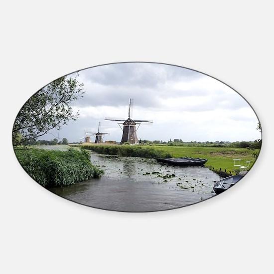 Dutch windmills Sticker (Oval)
