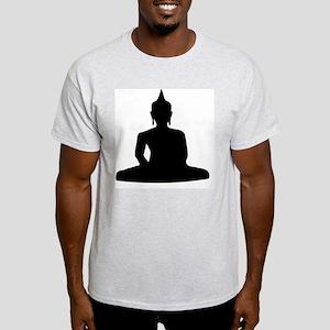 Vintage_Chick Sitting Buddha Silloue Light T-Shirt
