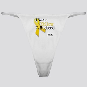 i_wear_yellow_for_my_husband_updated Classic Thong