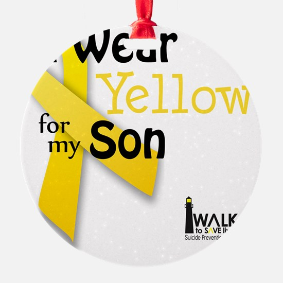 i_wear_yellow_for_my_son_updated Ornament