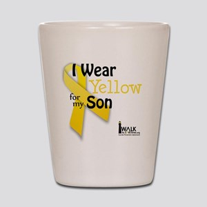 i_wear_yellow_for_my_son_updated Shot Glass
