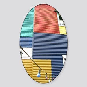 Colores de Caminito Sticker (Oval)
