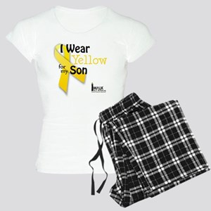 i_wear_yellow_for_my_son_up Women's Light Pajamas