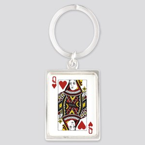 Queen of Hearts Portrait Keychain
