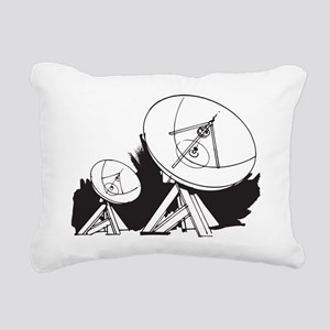 Satellites Rectangular Canvas Pillow