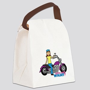 Biker Girl Canvas Lunch Bag