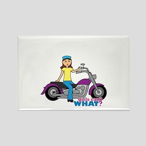 Biker Girl Rectangle Magnet