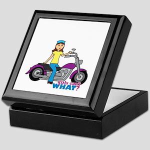 Biker Girl Keepsake Box