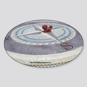 Compass Foo Sticker (Oval)