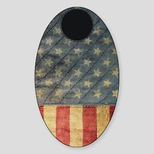 Patriot Iphone 4 case Sticker (Oval)