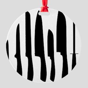 Chef Knife Set Round Ornament