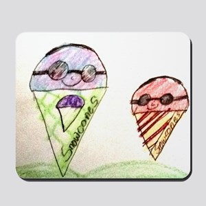 Father and Son Snowcones Mousepad