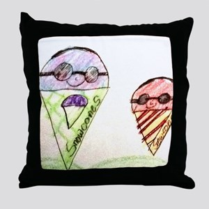 Father and Son Snowcones Throw Pillow