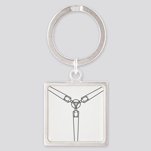 Wind Propeller Square Keychain