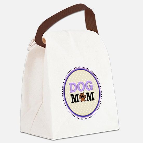 Dog Mom Canvas Lunch Bag