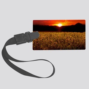 Sunflower Sunset iPad Case Large Luggage Tag