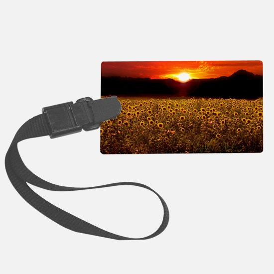 Sunflower Sunset iPad Case Luggage Tag