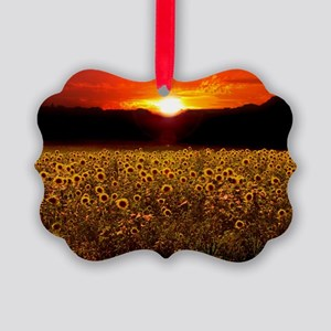 Sunflower Sunset iPad Case Picture Ornament