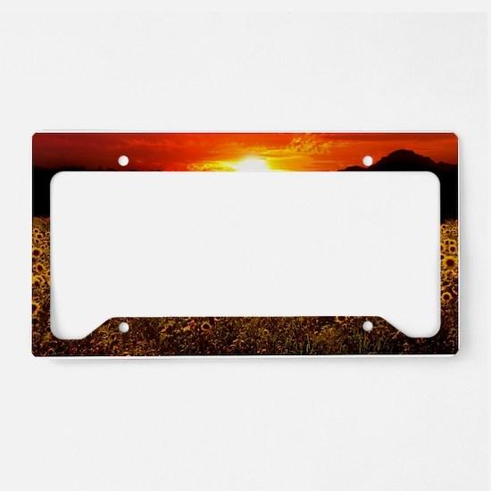 Sunflower Sunset iPad Case License Plate Holder