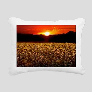 Sunflower Sunset iPad Ca Rectangular Canvas Pillow