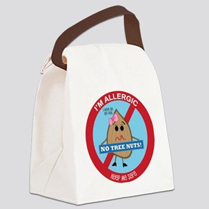Tree Nut Allergy - Girl Canvas Lunch Bag
