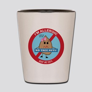 Tree Nut Allergy - Girl Shot Glass