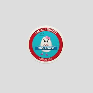 Egg Allergy - Girl Mini Button
