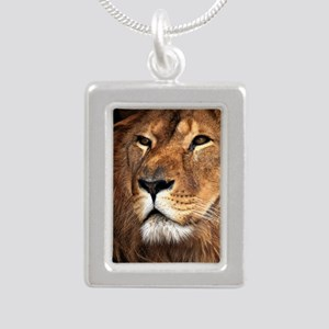 Lion Silver Portrait Necklace
