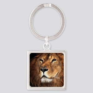 Lion Square Keychain