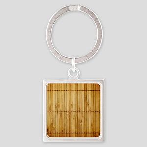 Bamboo Square Keychain