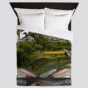 Logan canyon river Queen Duvet