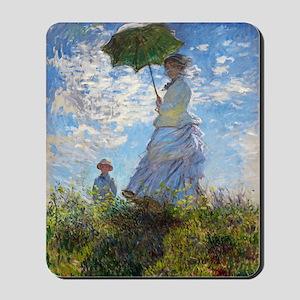 Woman with a Parasol Mousepad