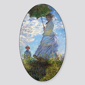 Woman with a Parasol Sticker (Oval)