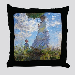 Woman with a Parasol Throw Pillow