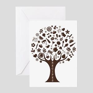 Vintage_Chick Recipe Tree Greeting Card