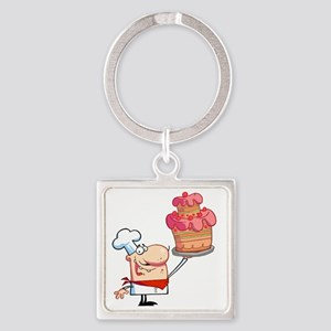 Cake_0051 Square Keychain
