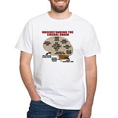 Liberal Brain White T-Shirt