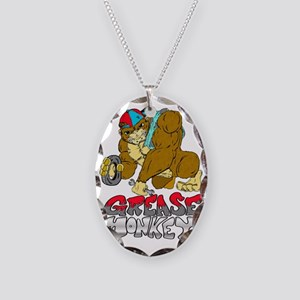 Grease monkey Pride Necklace Oval Charm